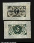 Fr. 1227SP 3c Third Issue Wide Margin Pair Choice New. A nice pair; both the face and back are fully wide, and both have...