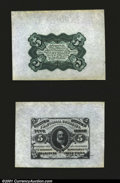 Fractional Currency:Third Issue, Fr. 1238SP 5c Third Issue Wide Margin Pair Choice About New....