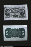 Fractional Currency:Third Issue, Fr. 1272SP 15c Third Issue Wide Margin Pair Gem New. Both t...