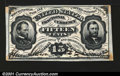 Fractional Currency:Third Issue, Fr. 1275SP 15c Third Issue Narrow Margin Pair About New. Th...