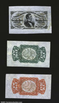 Fractional Currency:Third Issue, Fr. 1291/4SP 25c Third Issue Wide Margin Set of Three Very Ch...