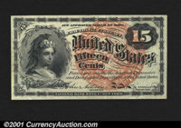 Fr. 1268 15¢ Fourth Issue Choice About New. CAA has handled only a half-dozen of Fr. 1268. This one, but for its si...
