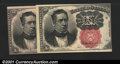 Fractional Currency:Fifth Issue, Fr. 1266 10¢ Fifth Issue. Two pieces, both of which grade ...