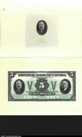 Canadian Currency: , Imperial Bank of Canada $5 Nov. 1, 1933 Ch. 375-20-02 Proof...