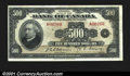 Canadian Currency: , BC-17 $500 1935 English TextA very rare note and the key ...