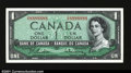Canadian Currency: , BC-37b $1 1954 Gem Crisp Uncirculated. A lovely note bearin...