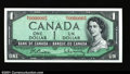 Canadian Currency: , BC-37b $1 1954 Gem Crisp Uncirculated. Low serial number M/Y ...