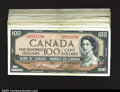Canadian Currency: , BC-43 $100 1954. A high grade grouping of 28 pieces, cove...