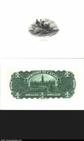 Canadian Currency: , A Pair of Canadian ProofsDC-14 $2 1897 Central Vignette Pro...