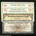 Miscellaneous:Depression Scrip, Seattle, WA- Seattle Clearing House Association $10, $20 Sh...