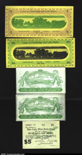 Miscellaneous:Depression Scrip, Baraboo, WI- Baraboo Chamber of Commerce 25¢, $1 1933 Shafe...
