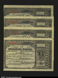 Miscellaneous:Postal Currency, Postal Note Type V Cleveland, OH. This set of four consecut...