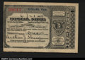 Miscellaneous:Postal Currency, Postal Note Type V Spokane, WA. Issued on June 21, 1894 for...