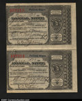 Miscellaneous:Postal Currency, Postal Note Type V Portland, OR Uncut Pair. Issued on June ...