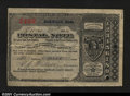 Miscellaneous:Postal Currency, Postal Note Type V Norwood, MA. Issued on June 30, 1894 wit...