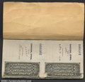 Miscellaneous:Postal Currency, Postal Note Stub Book. This book from Coggon, Iowa, contain...