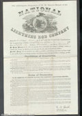 Miscellaneous:Other, Lightning Rod Guarantee Certificate.A lovely oversize cer...