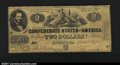 Confederate Notes:1861 Issues, T38 $2 1861. Although later issues with this design and den...