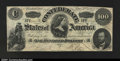 Confederate Notes:1862 Issues, T49 $100 1862. The top margin is cut slightly into the desi...