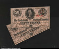 Confederate Notes:1863 Issues, A Pair of Confederate 50¢ Issues.T63 50¢ 1863. Choi...
