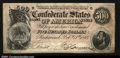 Confederate Notes:1864 Issues, T64 $500 1864. About Uncirculated. A vertical center fo...