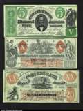 Confederate Notes:Group Lots, Three Confederate Counterfeits.XXI $10 1861. The famo...