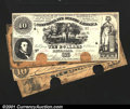 Confederate Notes:Group Lots, Four 1861 Confederate $10s.T10 $10 1861 VG, COCT2...