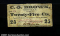 Obsoletes By State:Arizona, Mesilla, AT- C.O. Brown 25¢ A magnificent western item of...