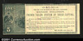 Obsoletes By State:Michigan, Battle Creek, MI- Mme. Kellogg $5 Ad NoteA great ad note ...