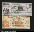 Obsoletes By State:Michigan, Hillsdale, MI- Mitchell, Waldron & Co. 5¢, 20¢Two pieces,...