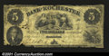 Obsoletes By State:Minnesota, Rochester, MN- Bank of Rochester $5 April 20, 1859 G6A ve...