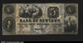 Obsoletes By State:Ohio, Newtown, OH - Bank of Newtown $5 June 9, 1846 G16A crisp ...