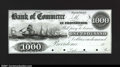 Obsoletes By State:Rhode Island, Providence, RI- The Bank of Commerce $1000 G18 Durand 1045 ...