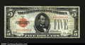 Error Notes:Inverted Reverses, Fr. 1525 $5 1928 Legal Tender. Fine-Very Fine. The 1928 $5....