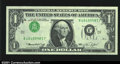 Error Notes:Inverted Third Printings, Fr. 1908-J $1 1974 Federal Reserve Note. Gem Crisp Uncirculat...