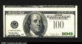 Error Notes:Inverted Third Printings, Fr. 2175-B $100 1996 Federal Reserve Note. About Uncirculated...