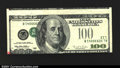 Error Notes:Inverted Third Printings, Fr. 2175-L $100 1996 Federal Reserve Note. Extremely Fine-Abo...