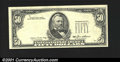 Error Notes:Missing Third Printing, Fr. 2122-? $50 1985 Federal Reserve Note. Choice Crisp Uncirc...