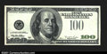 Error Notes:Missing Third Printing, Fr. 2175-? $100 1996 Federal Reserve Note. About Uncirculated...