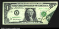 Error Notes:Foldovers, Fr. 1901-L $1 1963A Federal Reserve Note. Very Fine. A nice...