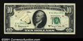 Error Notes:Printed Tears, Fr. 2017-K $10 1963A Federal Reserve Note. Extremely Fine. ...