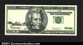 Error Notes:Major Errors, Fr. 2083-? $20 1996 Federal Reserve Note. Gem Crisp Uncircula...