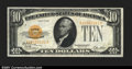 Small Size:Gold Certificates, Fr. 2400 $10 1928 Gold Certificate. Courtesy Autograph. Choic...