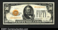 Small Size:Gold Certificates, Fr. 2404 $50 1928 Gold Certificate. Very Fine....