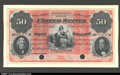 Fr. 202a $50 1861 Interest Bearing Note Proof Gem New. This design type is one of the rarest of all US Currency. Its rep...