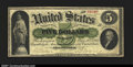 Large Size:Demand Notes, Fr. 1 $5 1861 Demand Note Fine-Very Fine. Unrestored and wi...