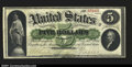 Large Size:Demand Notes, Fr. 2 $5 1861 Demand Note Extremely Fine. This beautiful Ph...