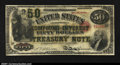 Large Size:Compound Interest Treasury Notes, Fr. 192b $50 1864 Compound Interest Treasury Note Fine-Very F...