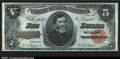 Large Size:Treasury Notes, Fr. 364 $5 1891 Treasury Note CGA Gem Uncirculated 65. This...