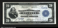 Fr. 822a $20 1915 Federal Reserve Bank Note About New. This absolutely unique piece was originally part of the William A...